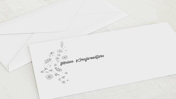Umschlag mit Design Konfirmation - Blumenstil