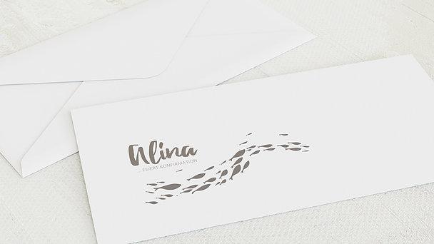 Umschlag mit Design Konfirmation - Frisches Wasser