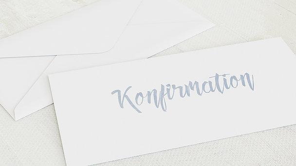 Umschlag mit Design Konfirmation - Ausblick Konfirmation