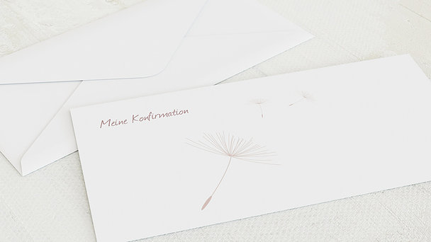 Umschlag mit Design Konfirmation - Löwenzahn