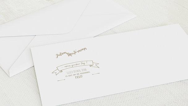 Umschlag mit Design Konfirmation - Kraftliner