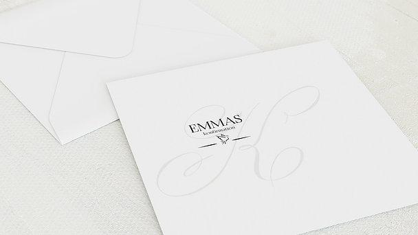 Umschlag mit Design Konfirmation - Antiqua Taube