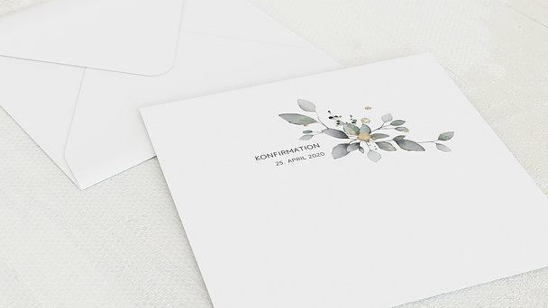 Umschlag mit Design Konfirmation - Umranktes Kreuz