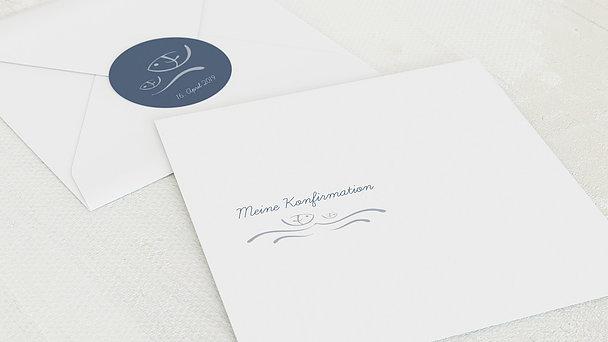 Umschlag mit Design Konfirmation - Wellig