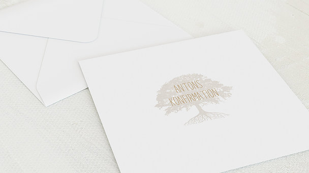 Umschlag mit Design Konfirmation - Stammbaum Konfirmation
