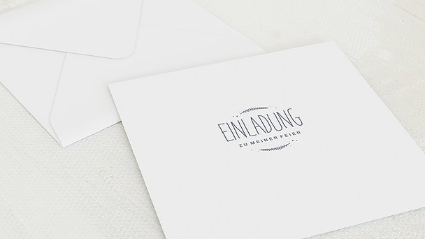 Umschlag mit Design Konfirmation - Himmelskreis
