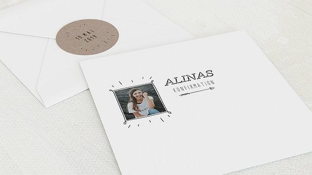 Umschlag mit Design Konfirmation - Freudestrahlen