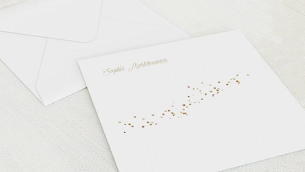 Umschlag mit Design Konfirmation - Geflitter Konfirmation