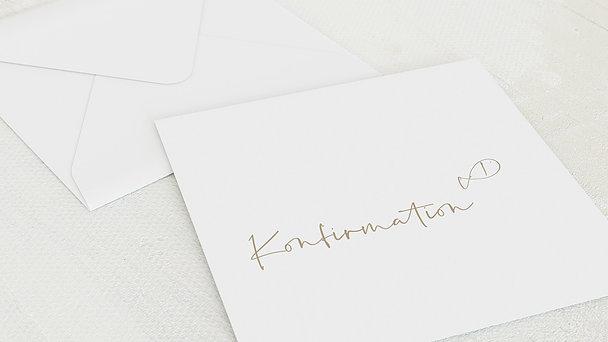 Umschlag mit Design Konfirmation - Freudenrauschen