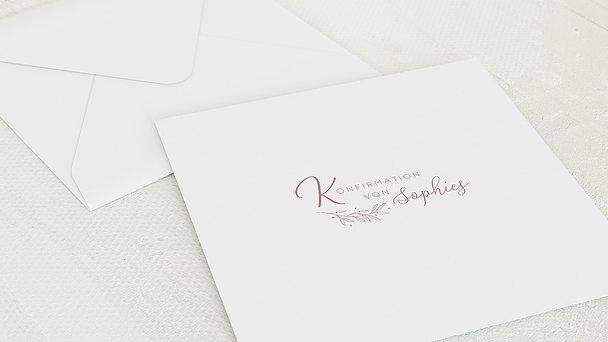 Umschlag mit Design Konfirmation - Garten der Ranken