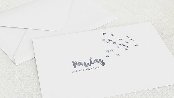 Umschlag mit Design Jugendweihe - Fliegende Taubenschar