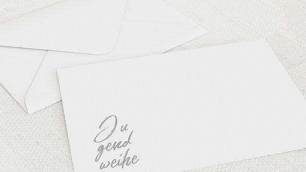 Umschlag mit Design Jugendweihe - Modern faith