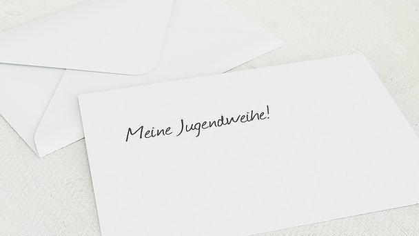 Umschlag mit Design Jugendweihe - Getäfelt jung