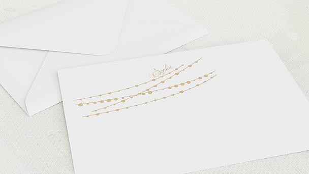 Umschlag mit Design Jugendweihe - Lichterkette
