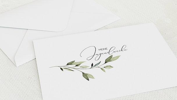 Umschlag mit Design Jugendweihe - Grüner Meilenstein