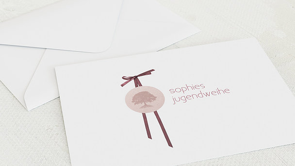 Umschlag mit Design Jugendweihe - Kraftvoll