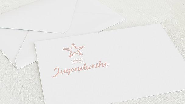 Umschlag mit Design Jugendweihe - Ankündigung