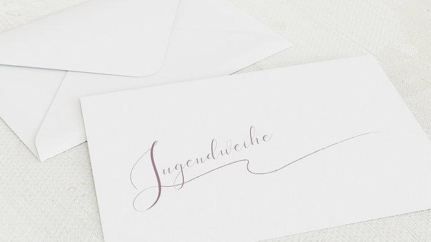 Umschlag mit Design Jugendweihe - Wachstumsringe