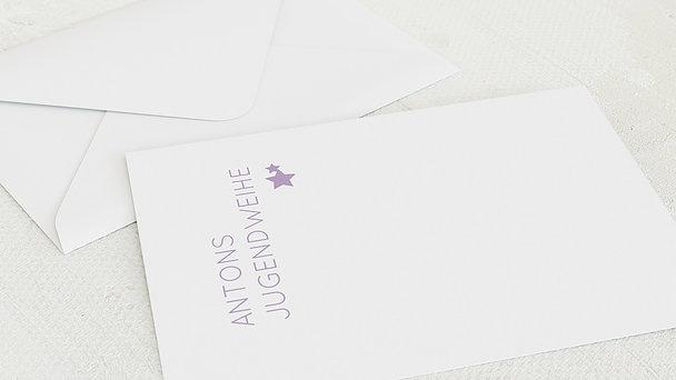 Umschlag mit Design Jugendweihe - Reines Herz Jugendweihe