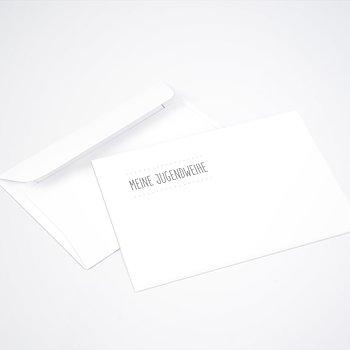 Umschlag mit Design Jugendweihe - Jugendweihe-Wimpel