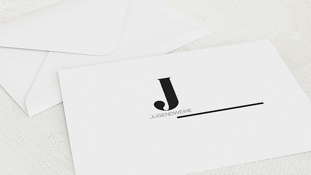 Umschlag mit Design Jugendweihe - Mondän