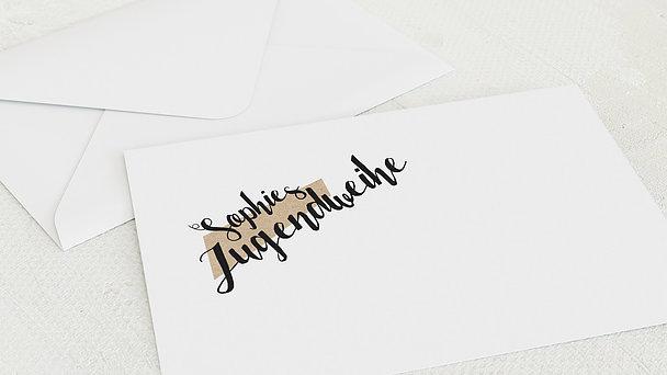 Umschlag mit Design Jugendweihe - Linientreu
