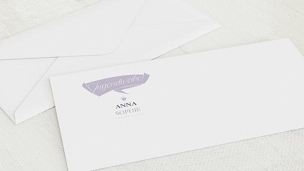 Umschlag mit Design Jugendweihe - Anfang
