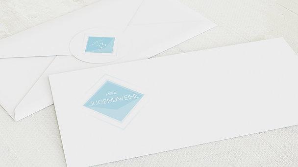 Umschlag mit Design Jugendweihe - Bunt gefächert