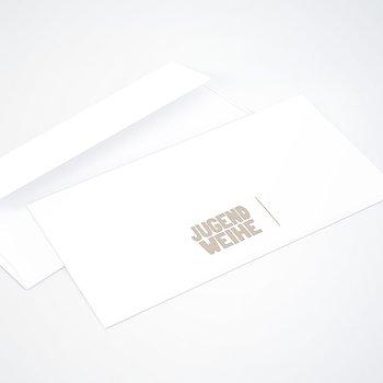 Umschlag mit Design Jugendweihe - Fototext