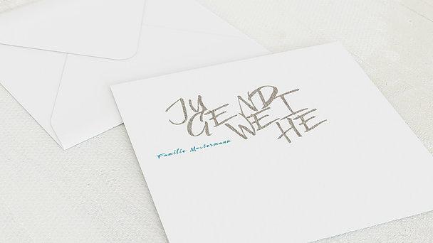 Umschlag mit Design Jugendweihe - Eigener Weg