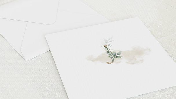 Umschlag mit Design Jugendweihe - Glaube und Erfüllung