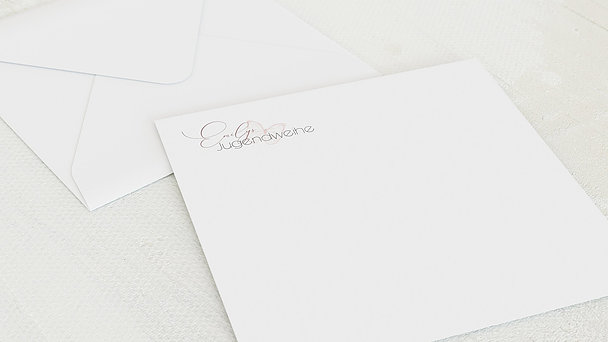 Umschlag mit Design Jugendweihe - Frühlingsgarten