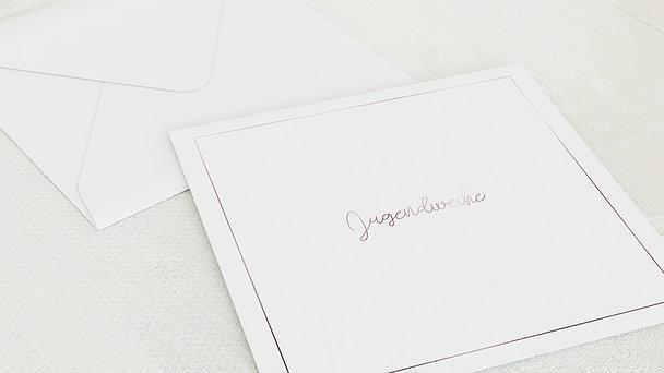 Umschlag mit Design Jugendweihe - Blütenrausch