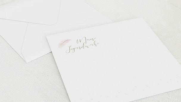 Umschlag mit Design Jugendweihe - Federzart