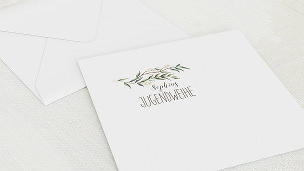 Umschlag mit Design Jugendweihe - Jugendweihekranz