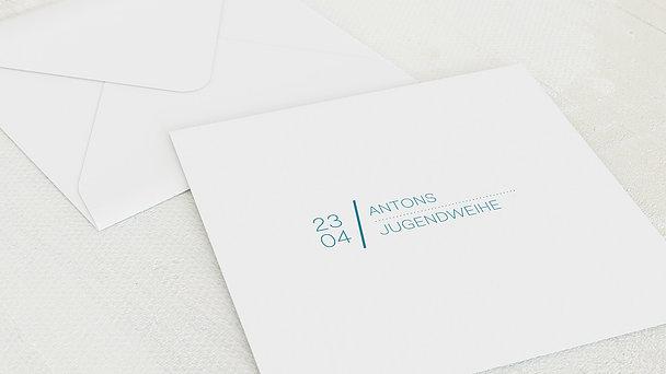 Umschlag mit Design Jugendweihe - Herausragend