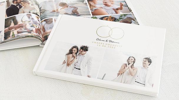 Fotobuch Hochzeit - Zarte Ringe