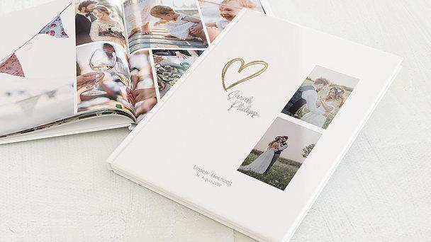 Fotobuch Hochzeit - Herz über Kopf