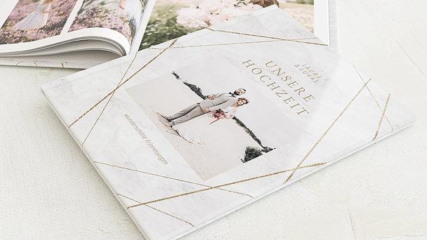 Fotobuch Hochzeit - Gold & Marmor