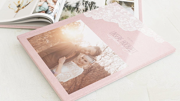 Fotobuch Hochzeit - Pastellspitze