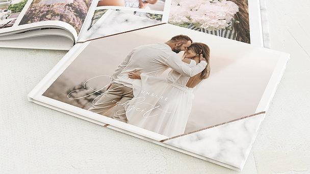 Fotobuch Hochzeit - Marbled corners