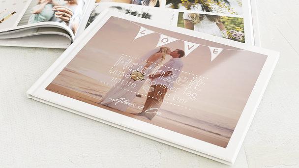 Fotobuch Hochzeit - Liebeswimpel