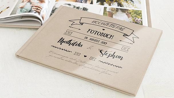 Fotobuch Hochzeit - Kraftpapier