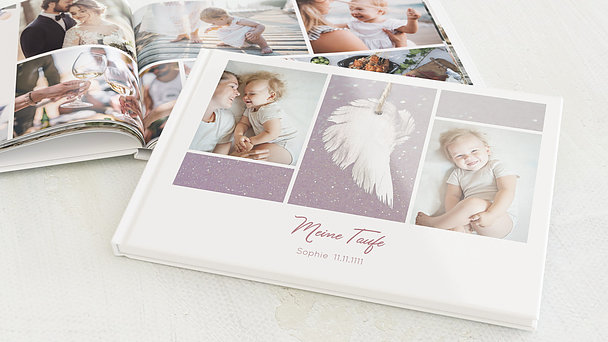Fotobuch Taufe - Zarte Flügel Baby