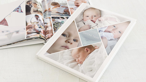 Fotobuch Taufe - Facetten Baby