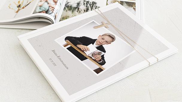 Fotobuch Kommunion - Holzkreuz
