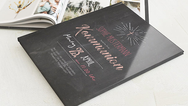 Fotobuch Kommunion - Ankündigung