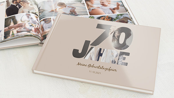Fotobuch Geburtstag - Stolze 70