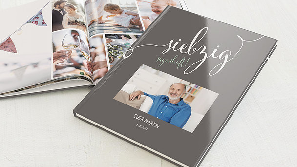 Fotobuch Geburtstag - Sagenhafte Siebzig