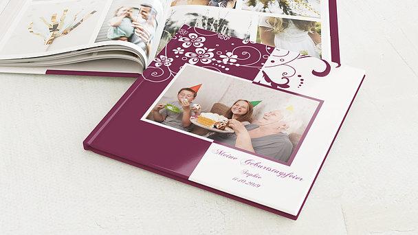 Fotobuch Geburtstag - Blütenkarte